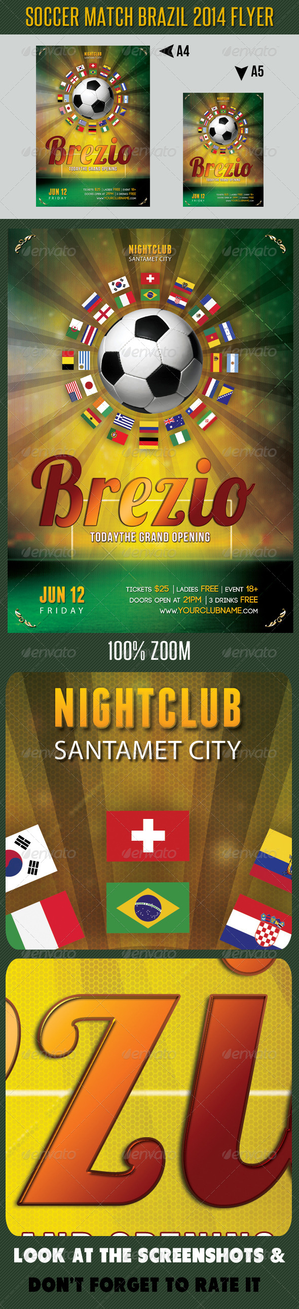 GraphicRiver Soccer Tournament 2014 Flyer Template 7755325