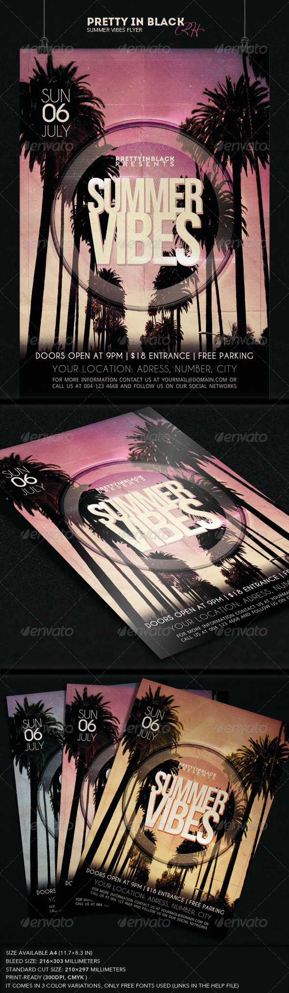 GraphicRiver Summer Vibes Flyer 7773702