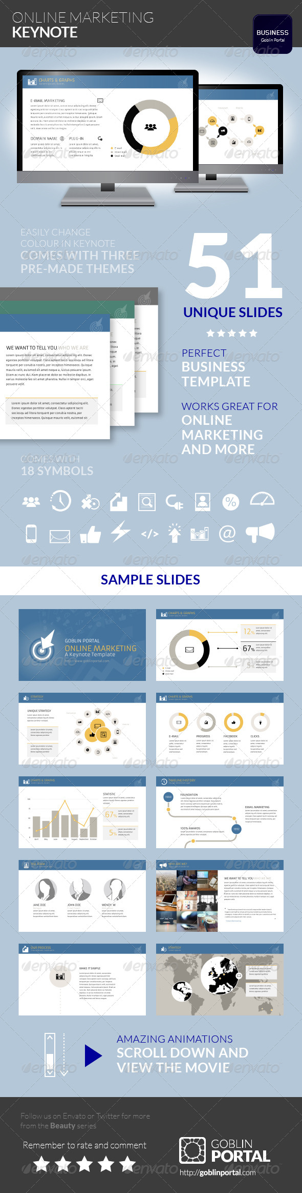 GraphicRiver Online Marketing Keynote Template 7773735