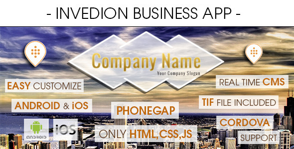 CodeCanyon Invedion Business App With CMS Phonegap Cordova 7773844