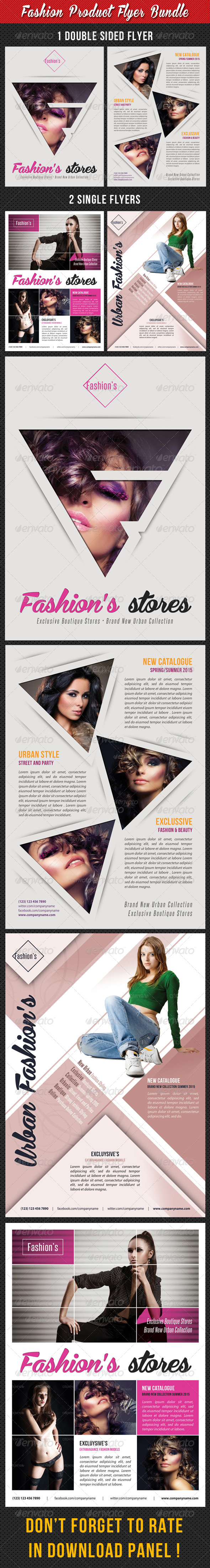 GraphicRiver 3 in 1 Fashion Product Flyer Bundle 20 7773842