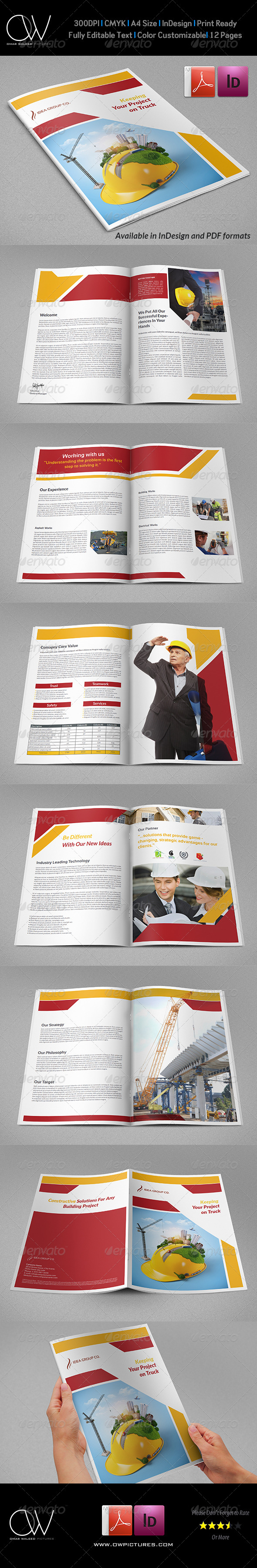 GraphicRiver Construction Industry Brochure Template Vol.2 7774138