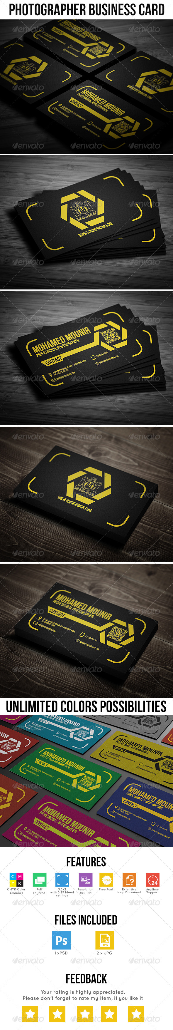 GraphicRiver Photographer Business Card 7774192