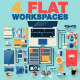4 Creative Office Workspace - GraphicRiver Item for Sale