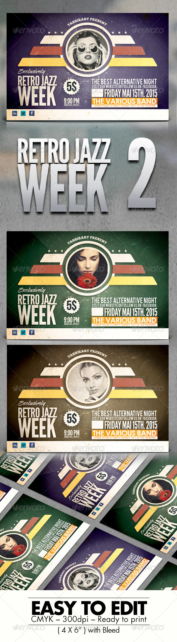 GraphicRiver Retro Jazz Week V2 7774628