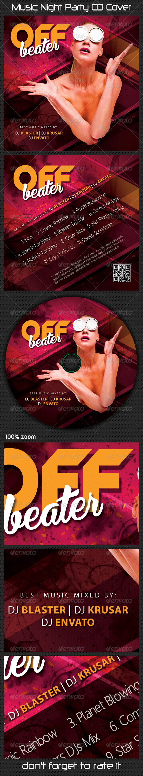 GraphicRiver Music Night Party CD Cover 06 7774707
