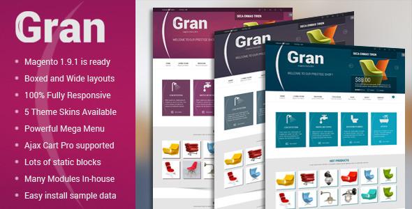 Gran - Premium Responsive Magento Theme - Magento eCommerce