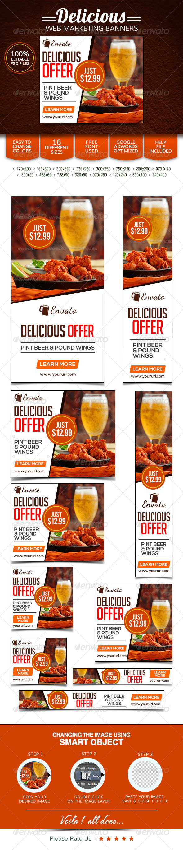 GraphicRiver Restaurant & Bar Banners 7775156