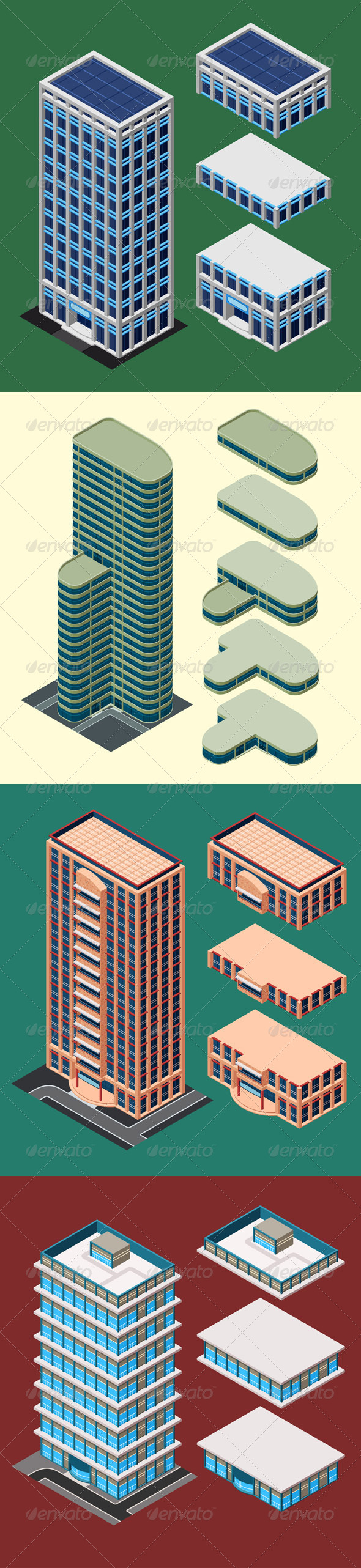 GraphicRiver Isometric Modern Building 7775247