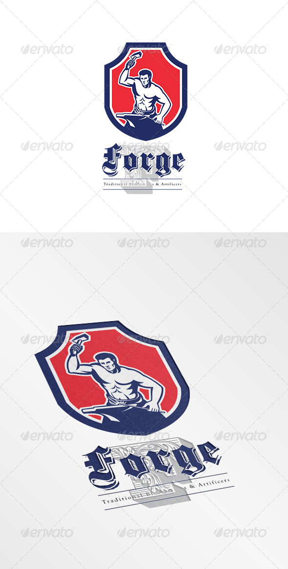 GraphicRiver Forge Traditional Blacksmiths Logo 7775608