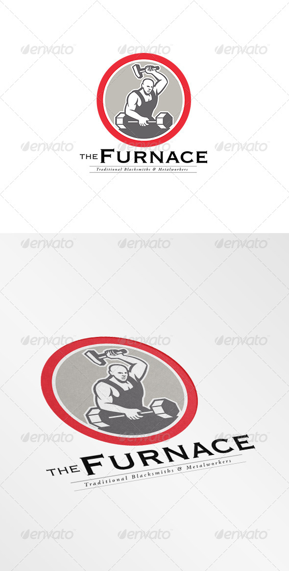 GraphicRiver The Furnace Traditional Metal Workers Logo 7775609