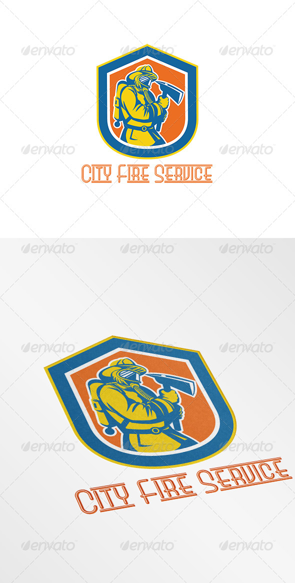GraphicRiver City Fire Service Logo 7775622