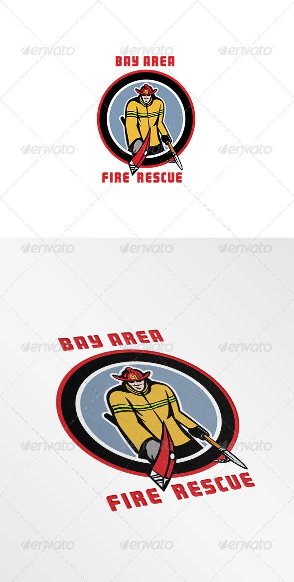 GraphicRiver Bay Area Fire Rescue Logo 7775625
