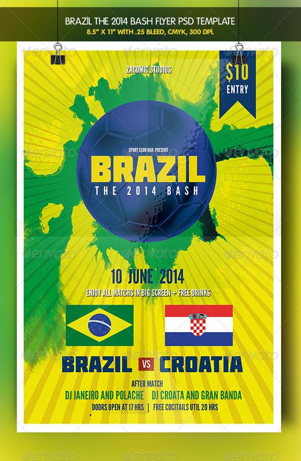 GraphicRiver Brazil 14 Bash Match Party 7775654