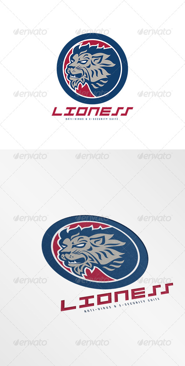GraphicRiver Lioness Anti-Virus and E-Security Suite Logo 7775667