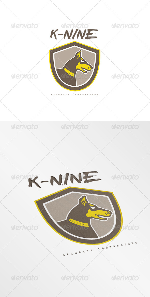 GraphicRiver K-Nine Security Contractors Logo 7775669
