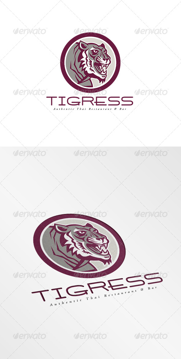 GraphicRiver Tigress Authentic Thai Restaurant and Bar Logo 7775671