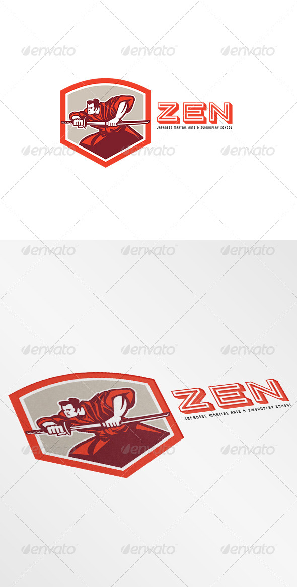 GraphicRiver Zen Martial Arts and Swordplay School Logo 7775773