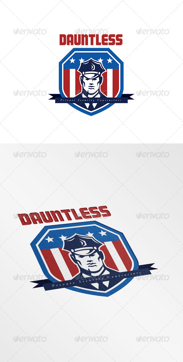 GraphicRiver Dauntless Private Security Contractors Logo 7775781