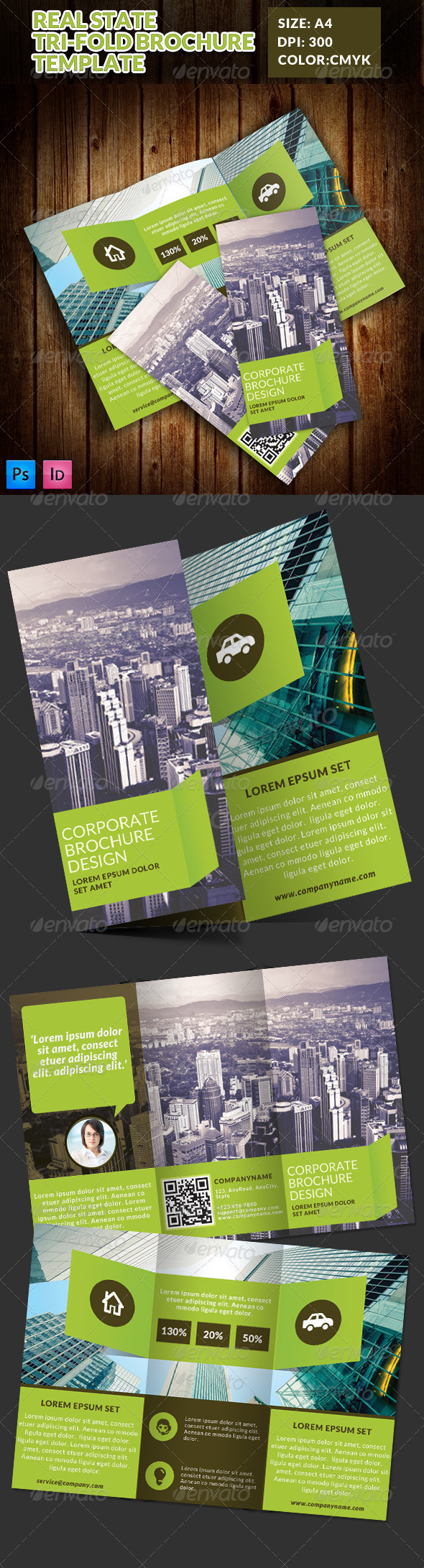 GraphicRiver Real State Tri-fold Brochure Template 1 7775963