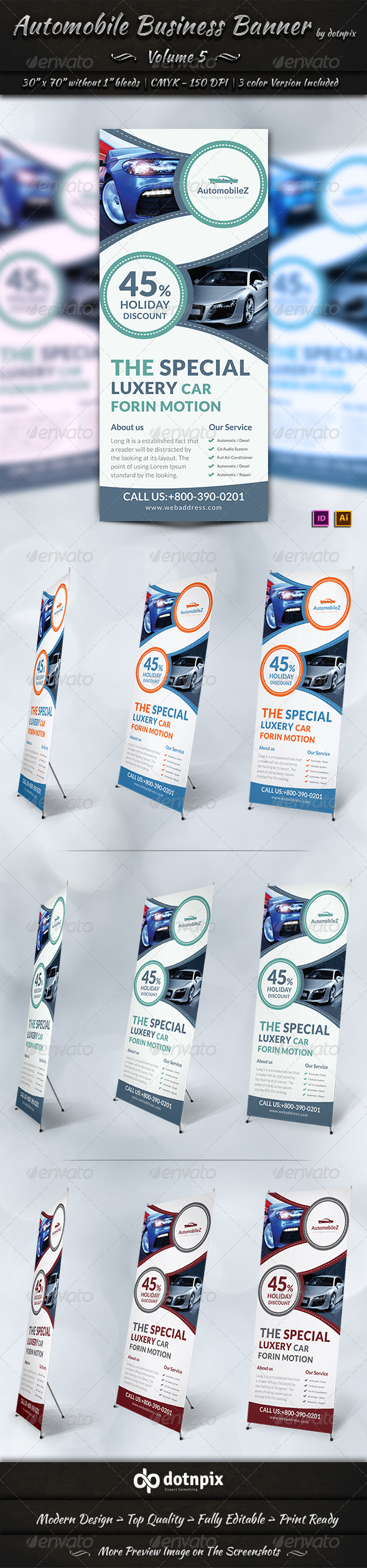 GraphicRiver Automobile Business Banner Volume 5 7776001