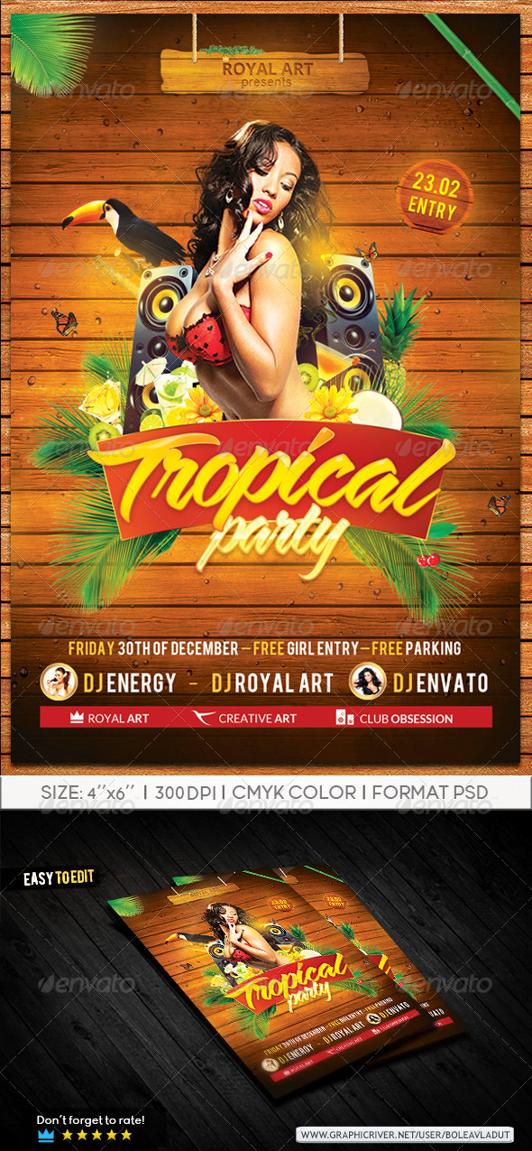 GraphicRiver Tropical Flyer 7776079