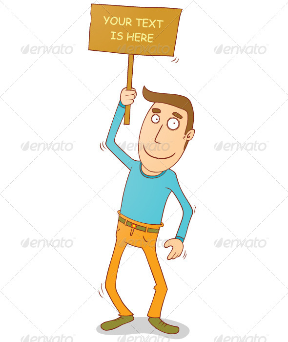 GraphicRiver Man Holding Banner 7776080