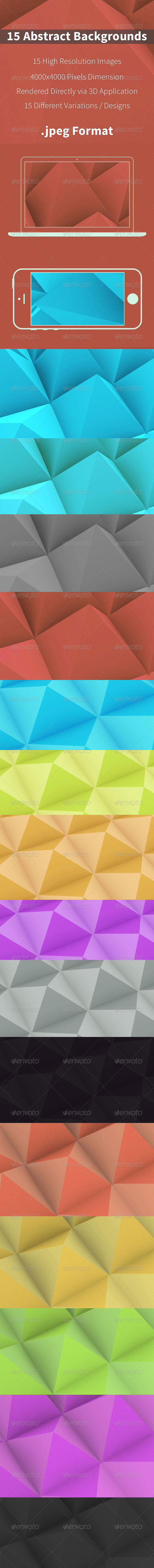 15 Abstract Polygonal Backgrounds