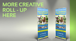 Ice Cream Roll-up Signage Banner Template Vol.2