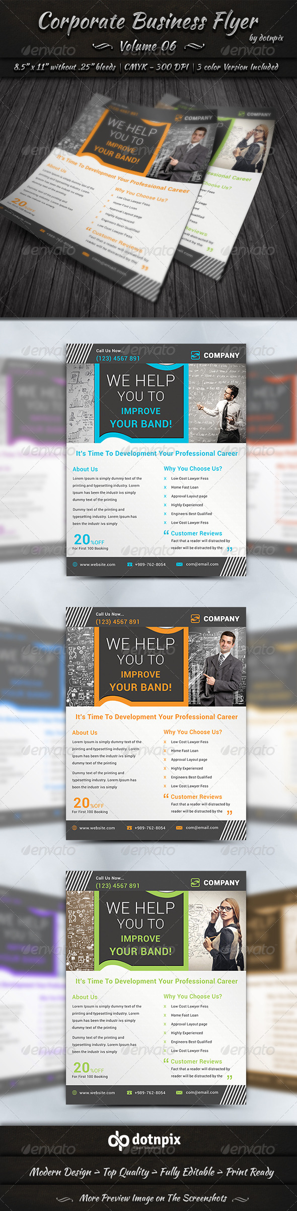 GraphicRiver Corporate Business Flyer Volume 6 7776164