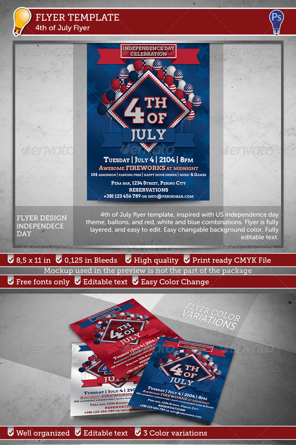 GraphicRiver 4th of July Flyer 7776401
