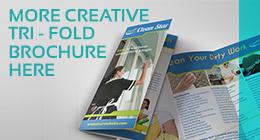 Cafe and Coffee Shop Menu Tri-Fold Brochure