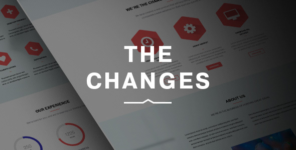 The Changes | One-Page Multi-Purpose PSD Template