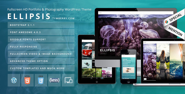 Ellipsis - Fullscreen HD Portfolio WordPress Theme - Portfolio Creative