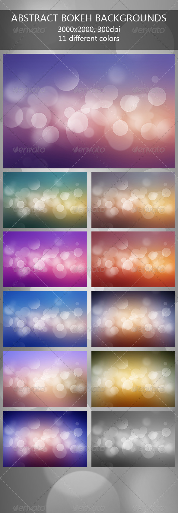 GraphicRiver Abstract Bokeh Backgrounds 7776634