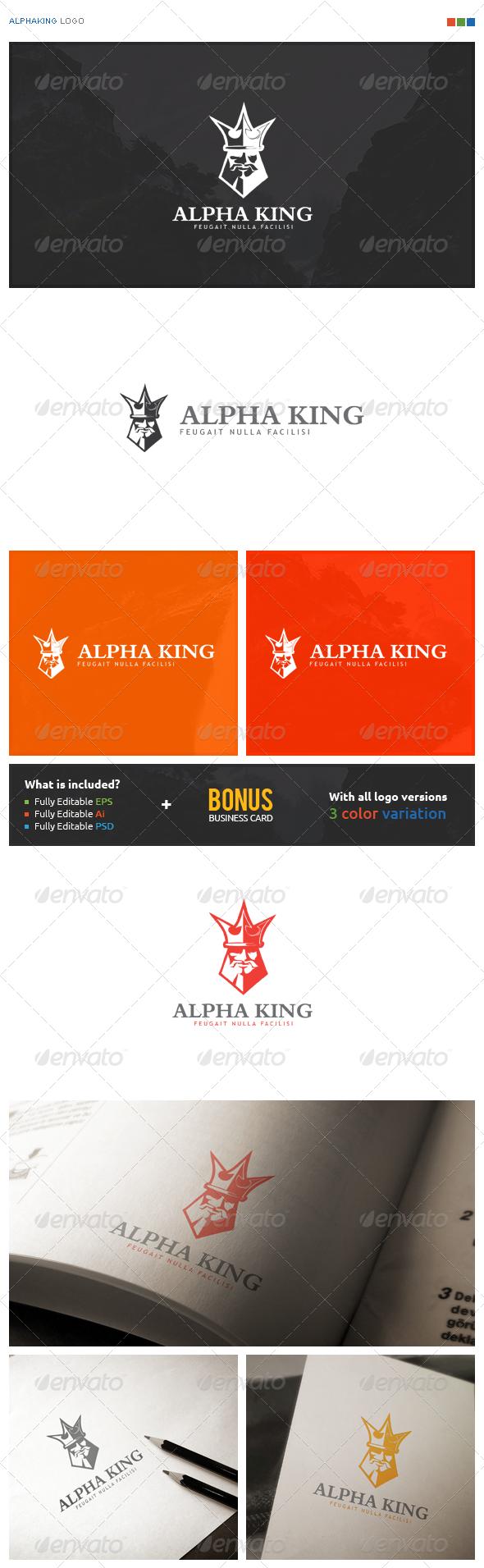 AlphaKing Logo - Symbols Logo Templates
