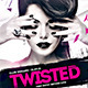 Twisted Night DJ Flyer Template PSD