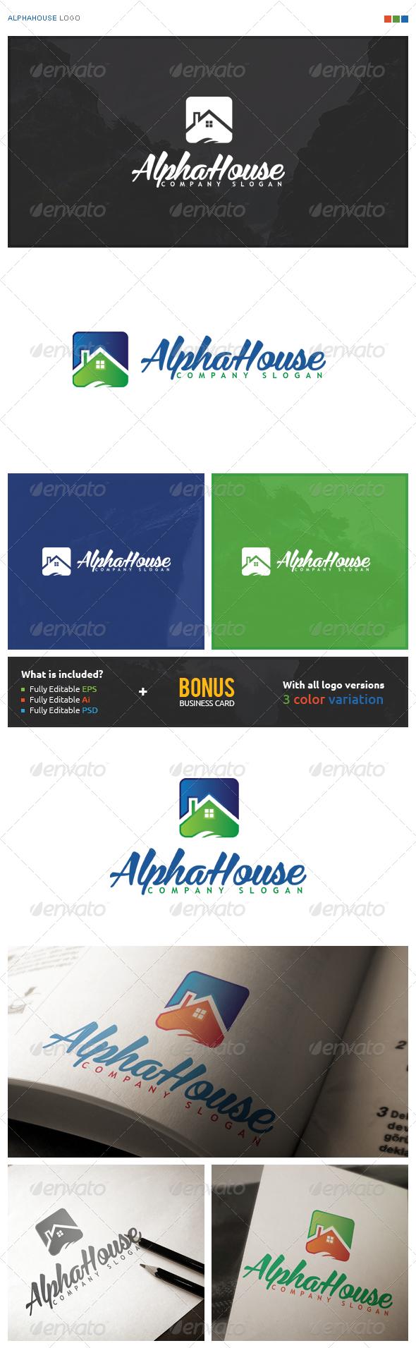 AlphaHouse Logo - Symbols Logo Templates