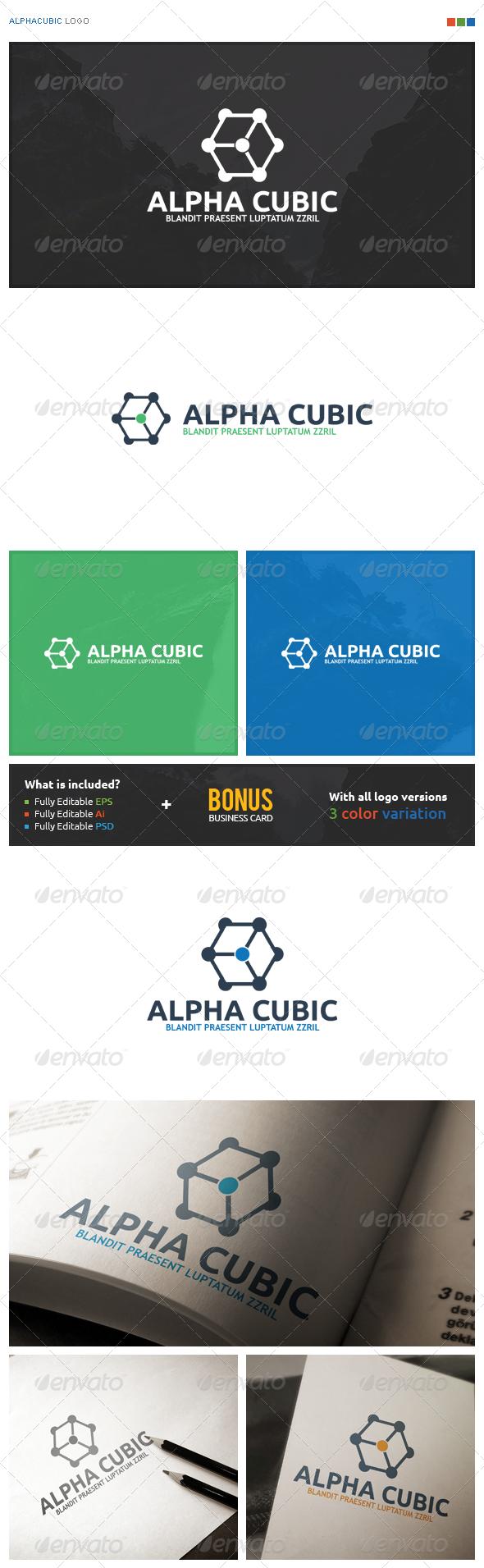 AlphaCubic Logo - Symbols Logo Templates