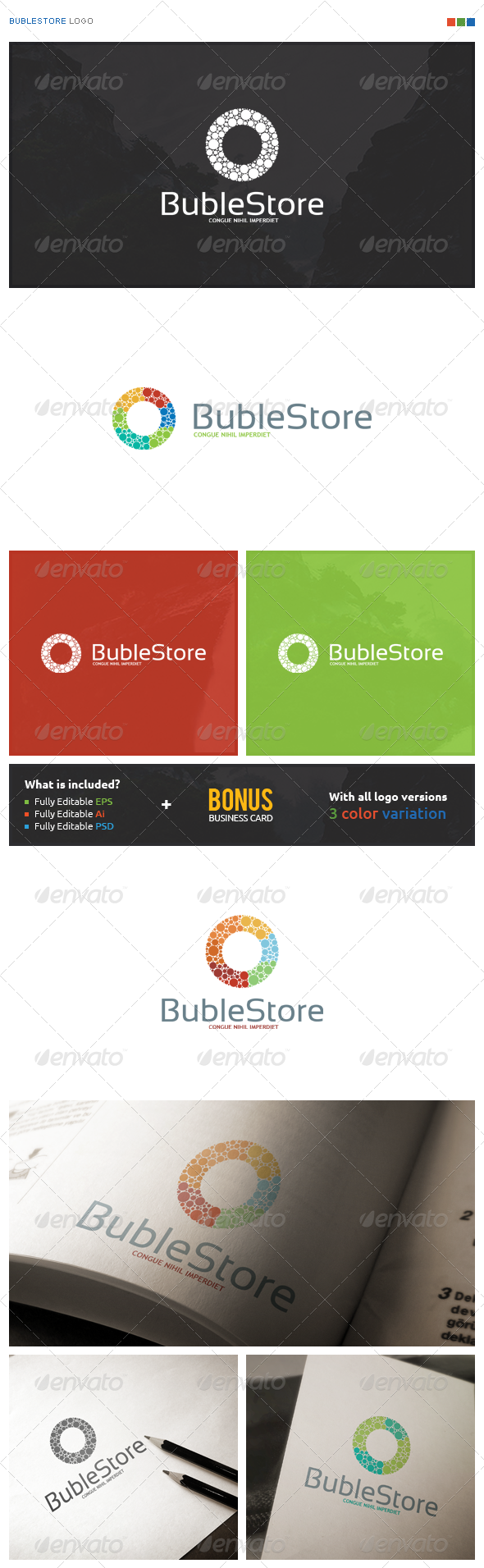 BubleStore Logo - Symbols Logo Templates
