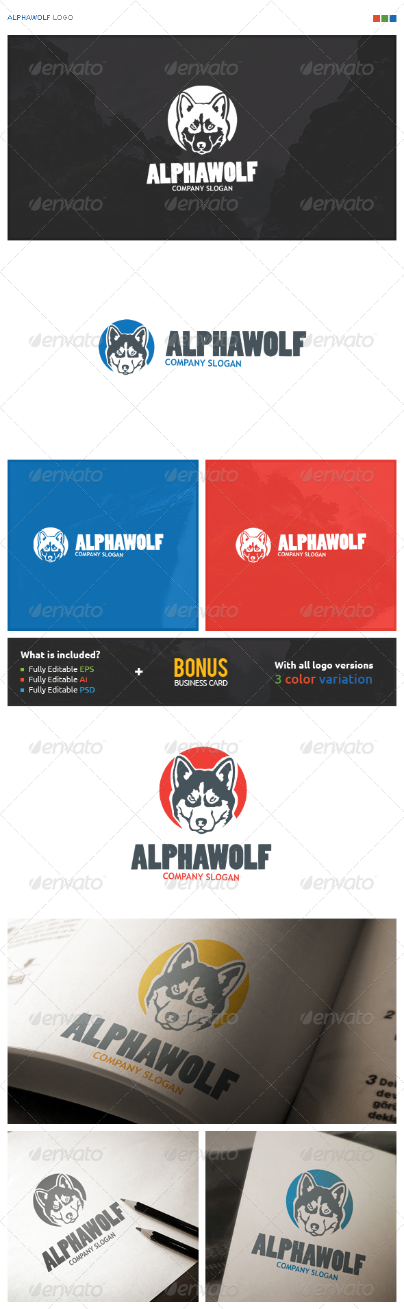 AlphaWolf Logo - Animals Logo Templates