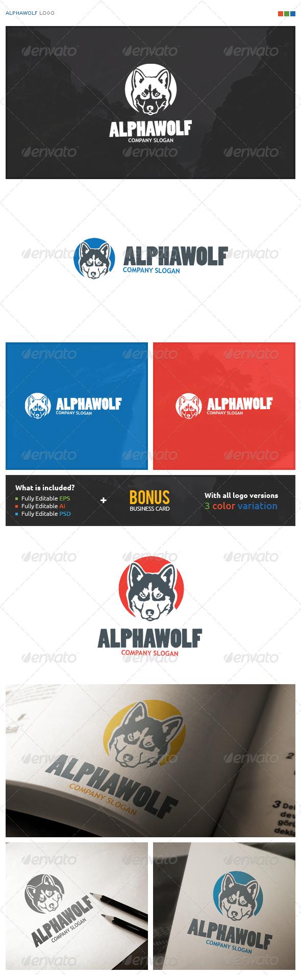 AlphaWolf Logo - Animals Logo Templates