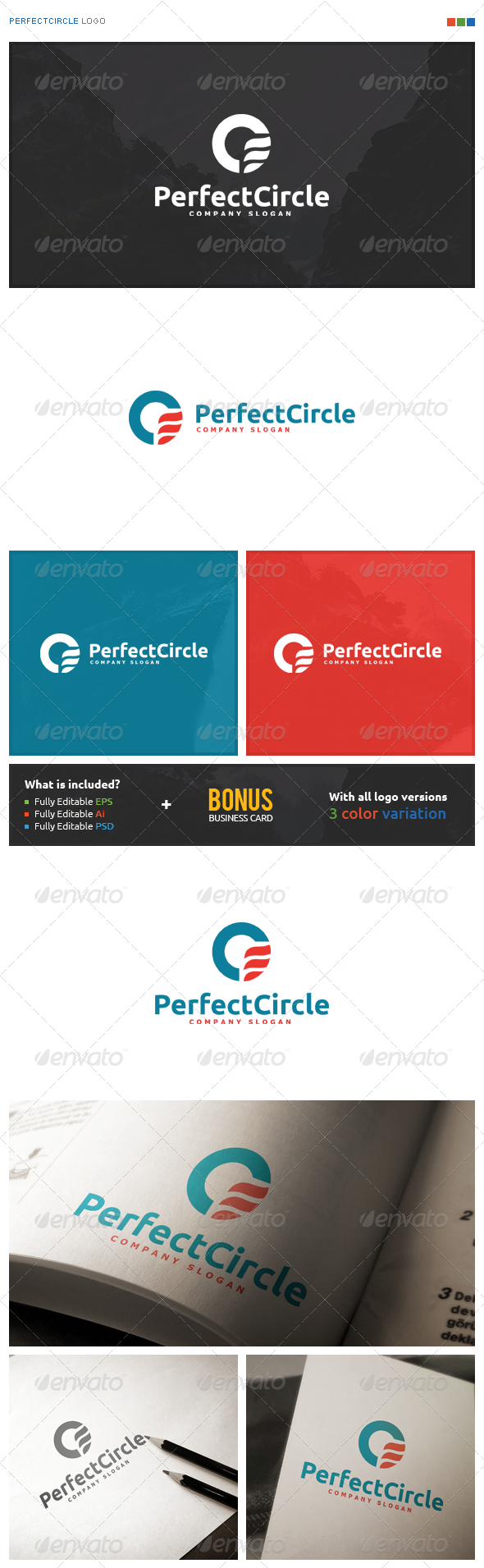 Perfect Circle Logo - Symbols Logo Templates