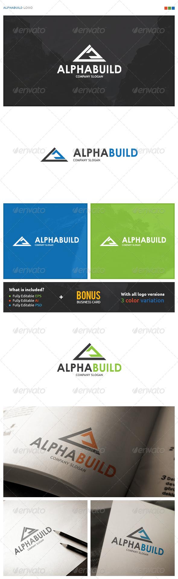 AlphaBuild Logo - Symbols Logo Templates