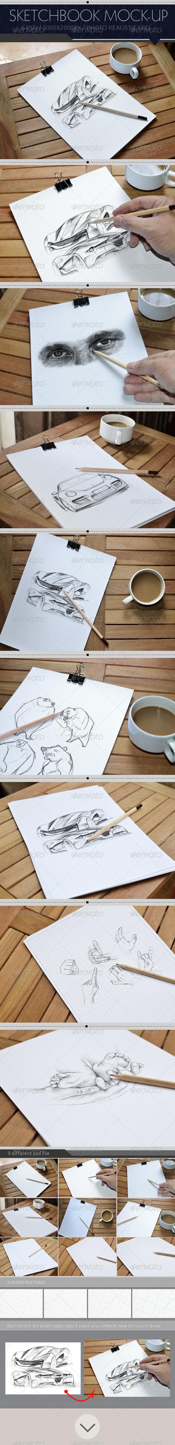 GraphicRiver Sketchbook Mock-Up 7776679