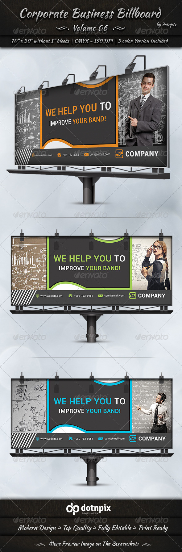 GraphicRiver Corporate Business Billboard Volume 6 7776707