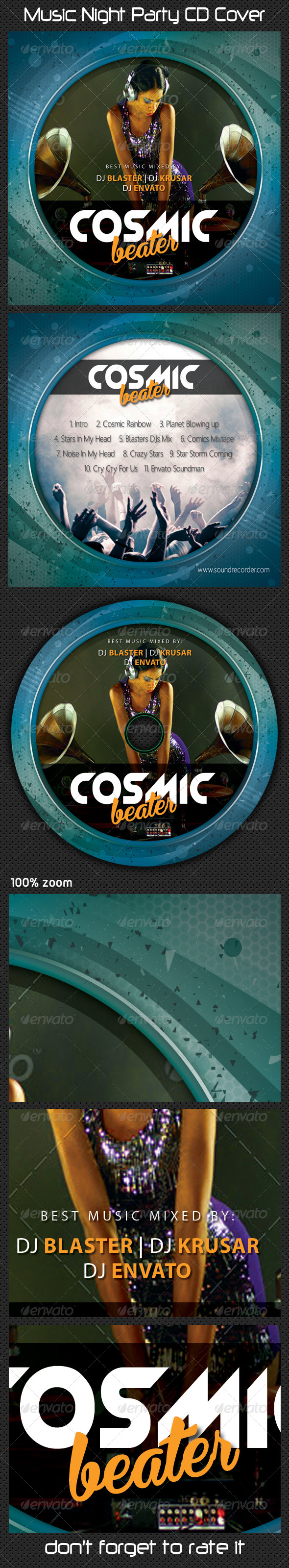 GraphicRiver Music Night Party CD Cover 07 7777224