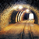 Mine gold underground tunnel railroad - PhotoDune Item for Sale