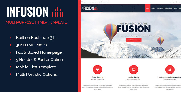 Infusion - Multipurpose business responsive HTML5