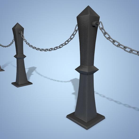 3DOcean Bollard Chain 7778155